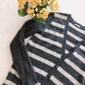 {madewell} striped knit cardigan